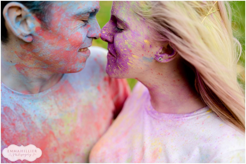powder paint pre-wedding shoot