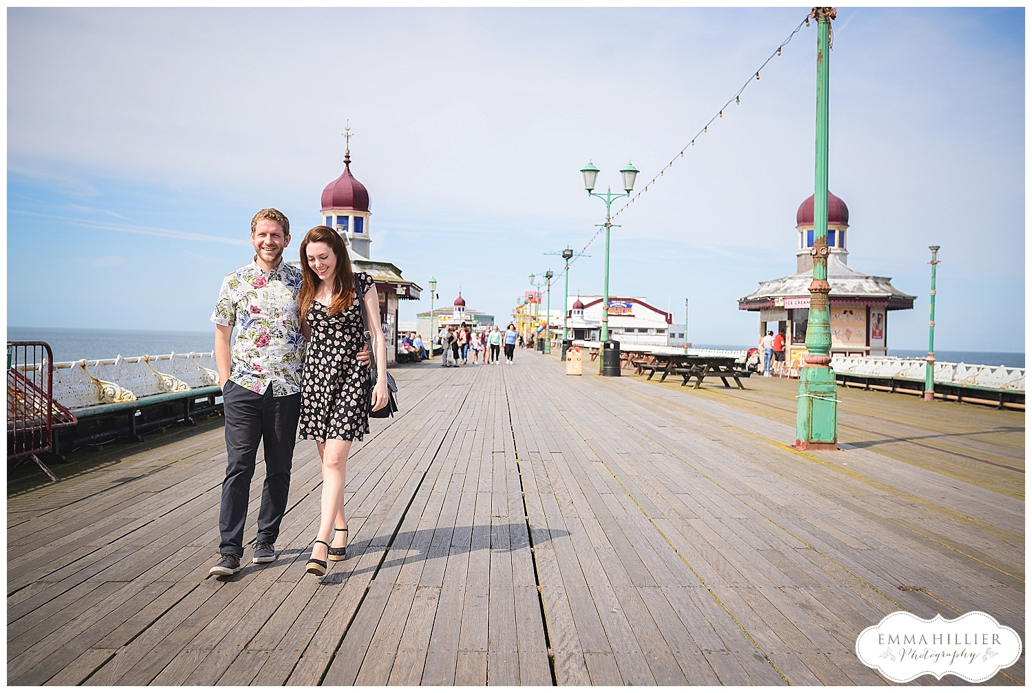 fun-filled pre-wedding shoot Blackpool