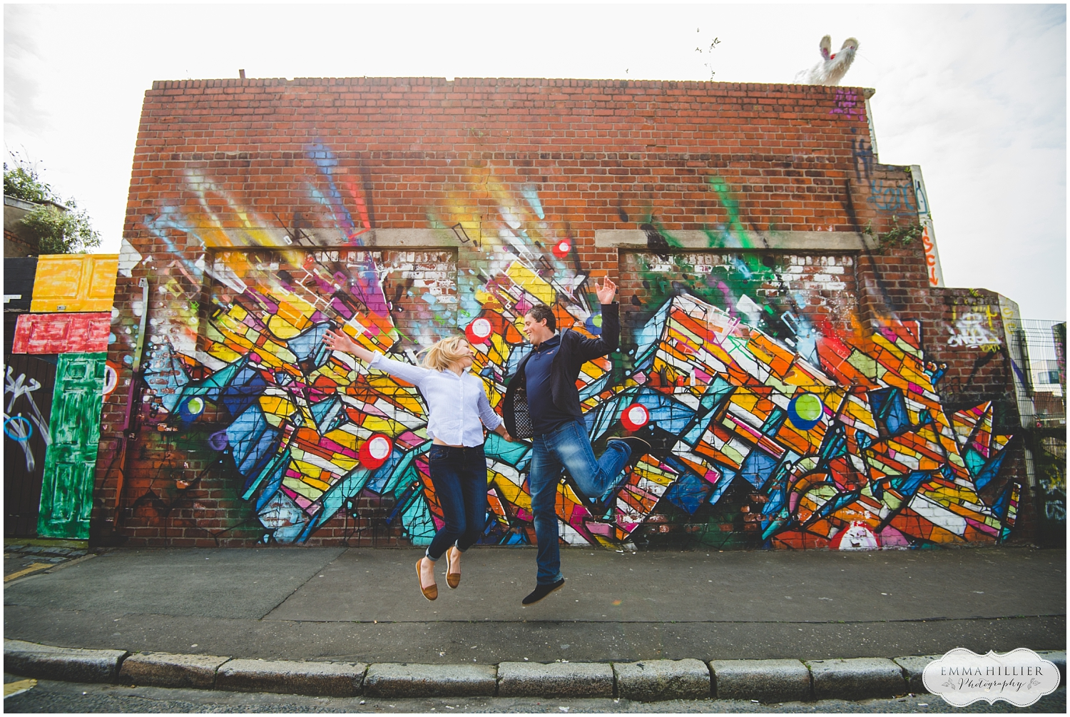 a colourful Liverpool pre-wedding shoot