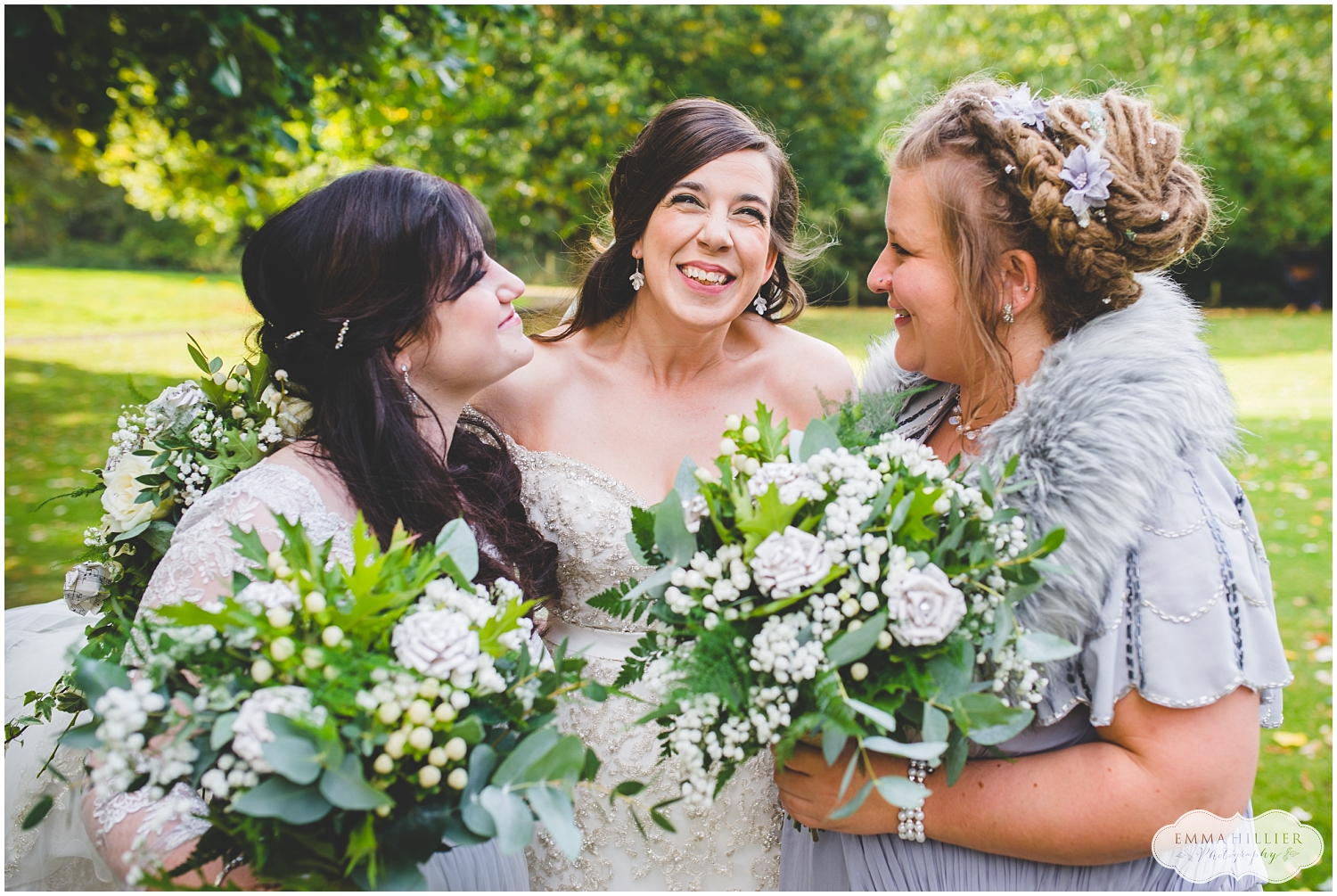Bride and bridesmaids at Ness Gardens