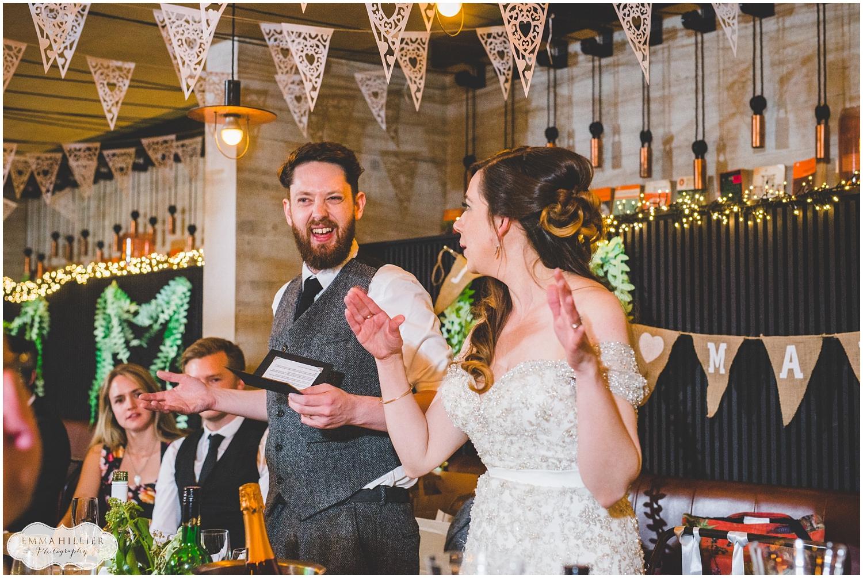 Speeches at Everyman Theatre wedding