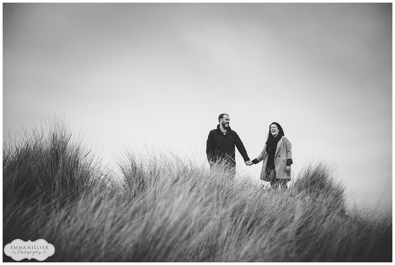Crosby Beach pre-wedding shoot