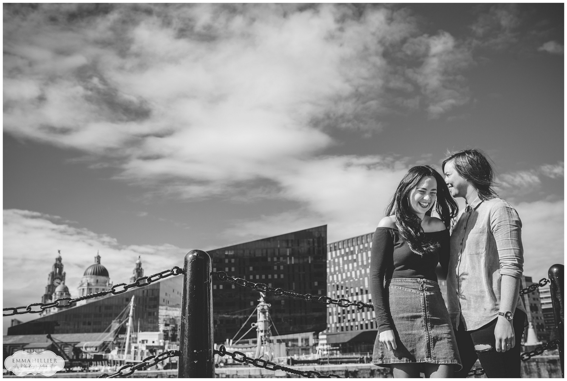 Relaxed Liverpool pre-wedding shoot