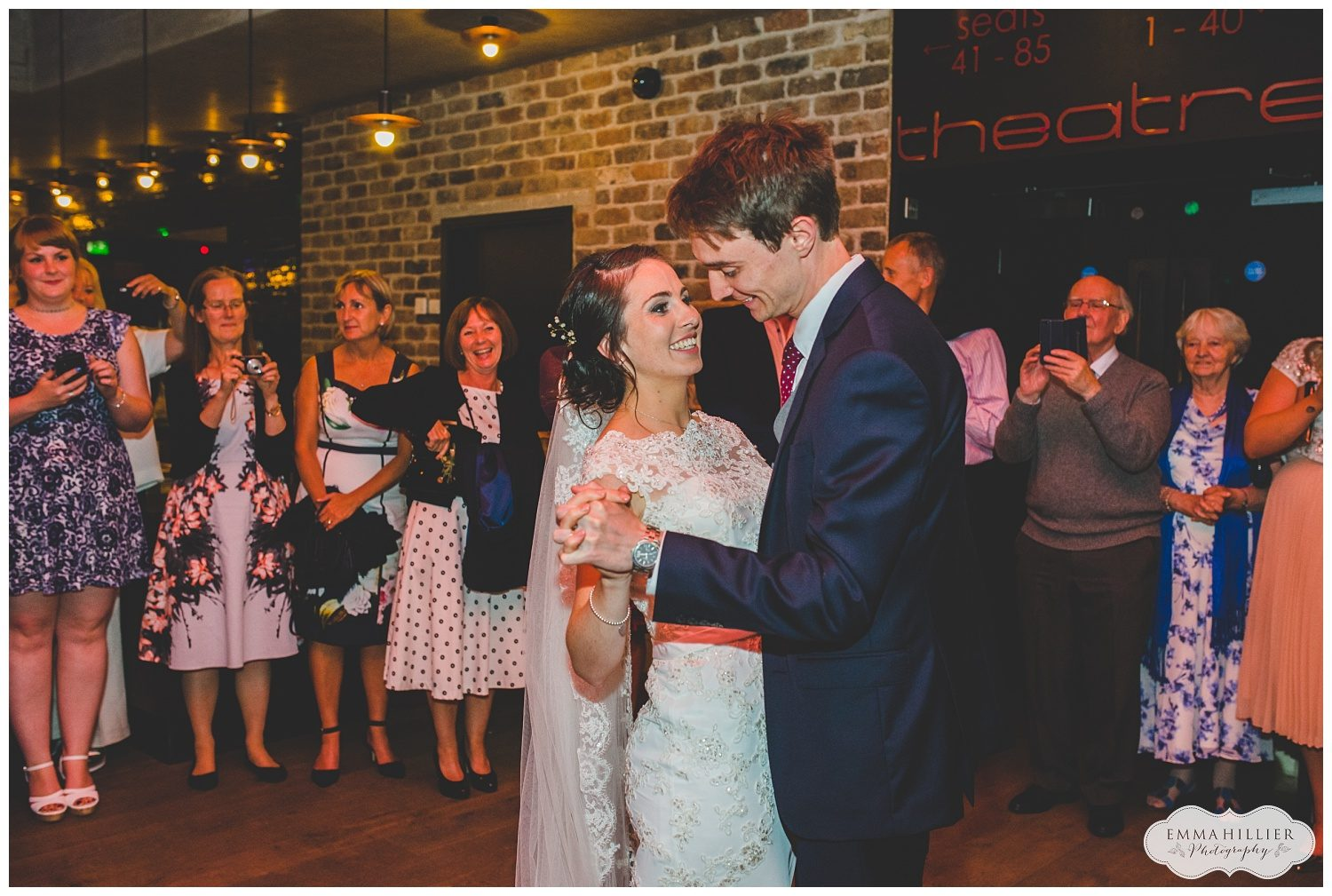 First dance at Everyman Theatre wedding in Liverpool