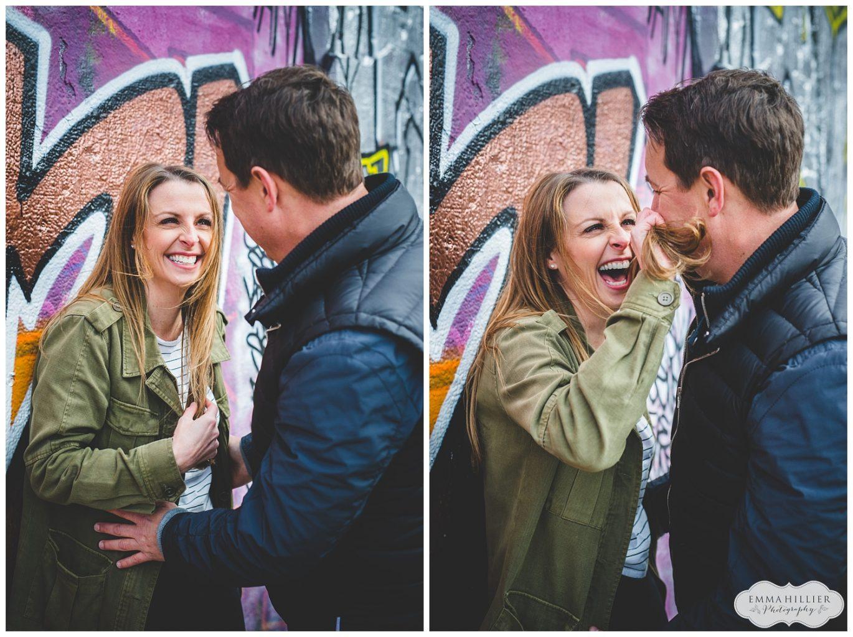 colourful pre-wedding shoot Baltic Triangle, Liverpool