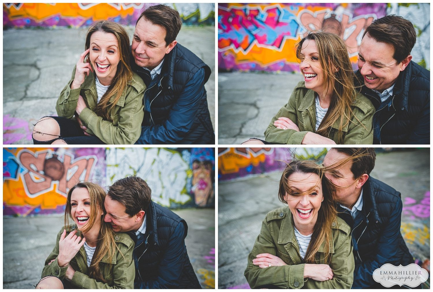 colourful pre-wedding shoot Baltic Triangle, Liverpool