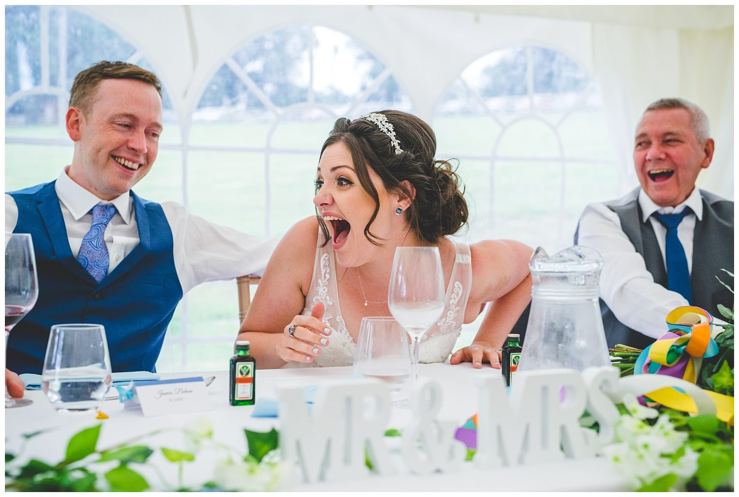 Festival themed wedding at Clawdd Offa Farm