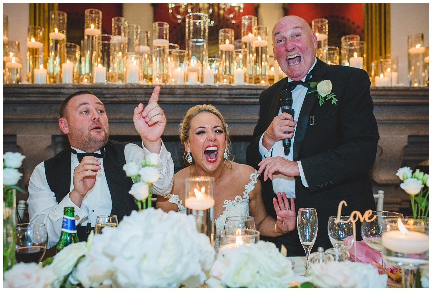 Father of the bride speech at Peckforton Castle wedding