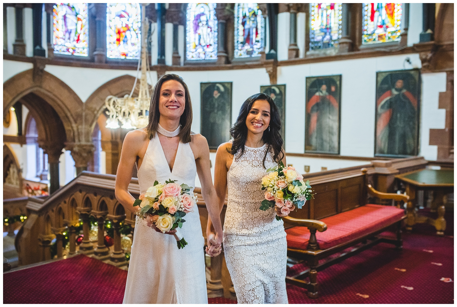 Two brides at Chester Town Hall