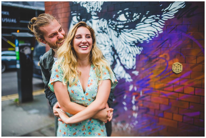 Alternative couples photoshoot, Northern Quarter - Manchester