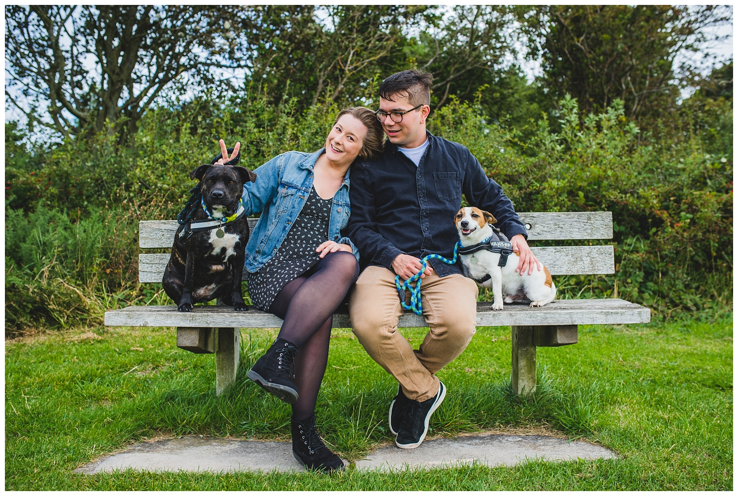 pre-wedding shoot with dogs
