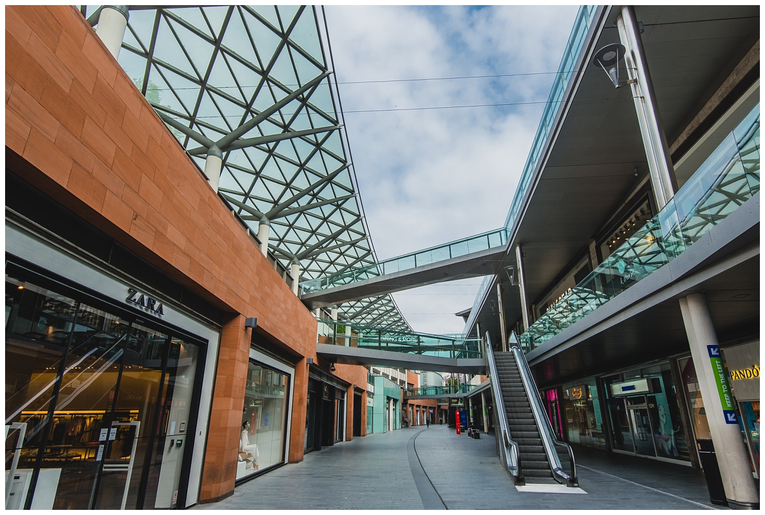 Closed shops in Liverpool One