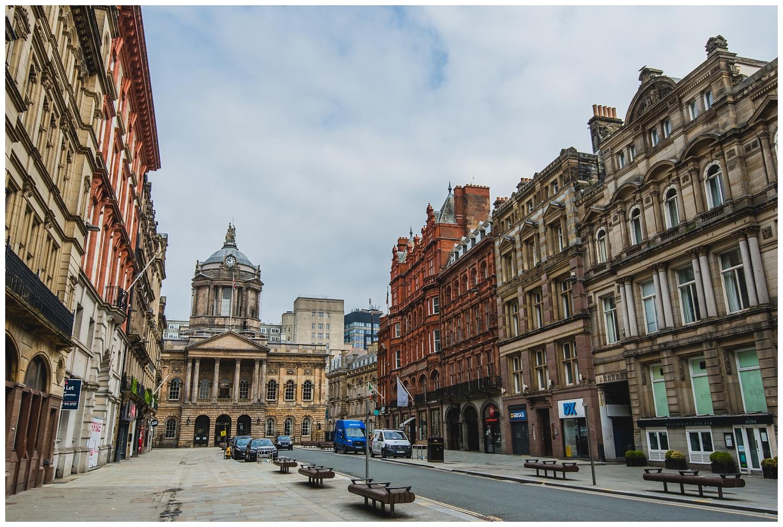 Empty Castle Street in lockdown Liverpool