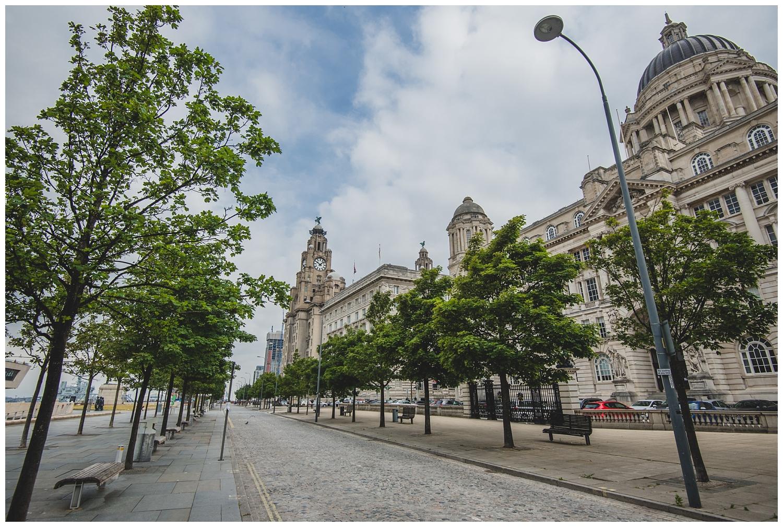 Deserted Pier Head Liverpool lockdown 2020