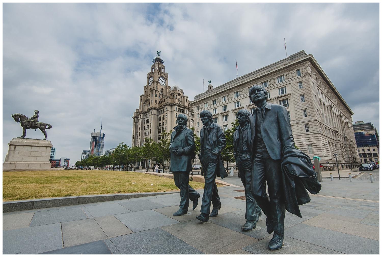 Beatles statues Pier Head Liverpool