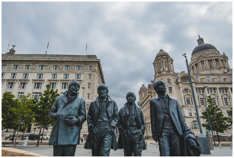 Beatles statues Liverpool