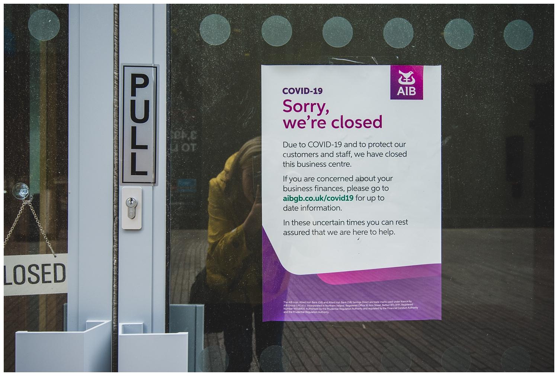 Covid-19 Liverpool shop closed