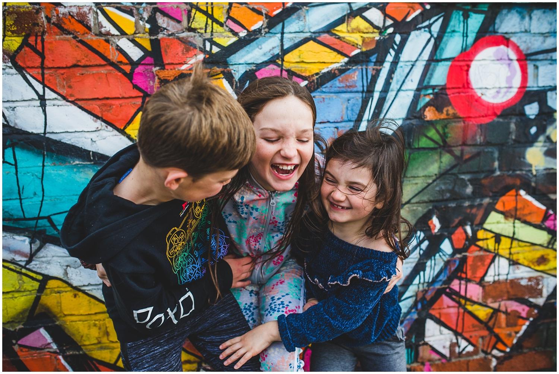 kids having fun on a photo-shoot in Liverpool