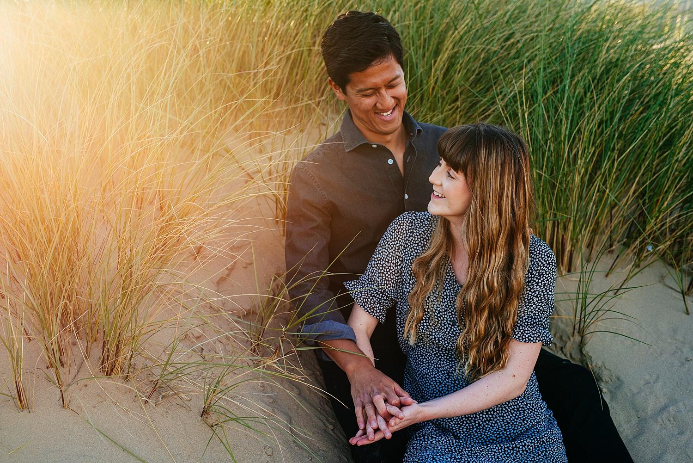 pre-wedding shoot on Crosby Beach